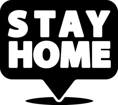 Black Stay home icon isolated on white background. Corona virus 2019-nCoV. Vector.. Ilustrace