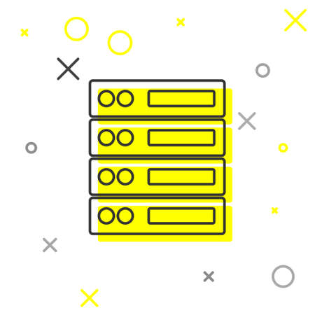 Grey line Server, Data, Web Hosting icon isolated on white background. Vector. 向量圖像