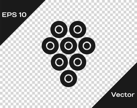 Black Caviar icon isolated on transparent background. Vector..