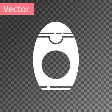 White Bottle of shampoo icon isolated on transparent background. Vector Illustration. Illustration