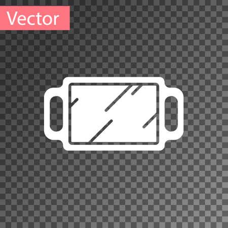 White Hand mirror icon isolated on transparent background. Vector Illustration. 向量圖像