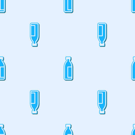 Blue line Cream or lotion cosmetic tube icon isolated seamless pattern on grey background. Body care products for men. Vector Illustration. 向量圖像