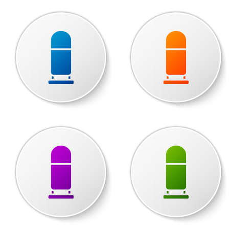 Color Bullet icon isolated on white background. Set icons in circle buttons. Vector Çizim