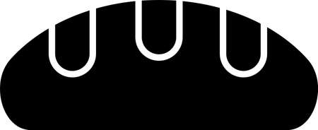 Black Bread loaf icon isolated on white background. Vector. Illusztráció