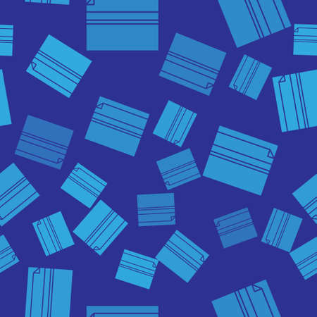 Blue Rolling paper icon isolated seamless pattern on blue background. Vector Illustration. Illusztráció
