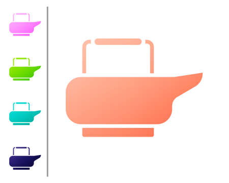 Coral Bedpan icon isolated on white background. Toilet for bedridden patients. Set color icons. Vector Illustration. Stock Illustratie