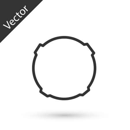 Grey line Moon icon isolated on white background. Vector Illustration. Illustration