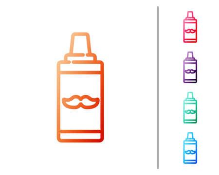 Red line Shaving gel foam icon isolated on white background. Shaving cream. Set color icons. Vector Illustration. 矢量图像