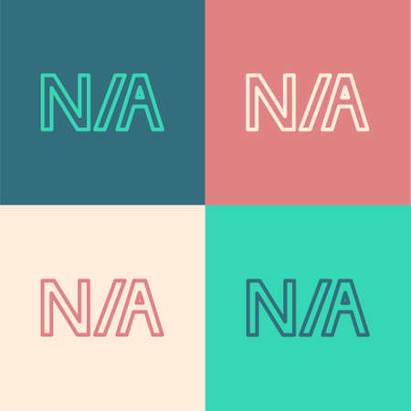 Pop art line Not applicable icon isolated on color background.  Vector Illustration.