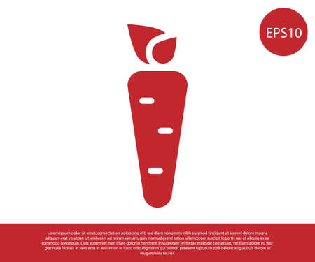 Red Carrot icon isolated on white background. Vector 일러스트