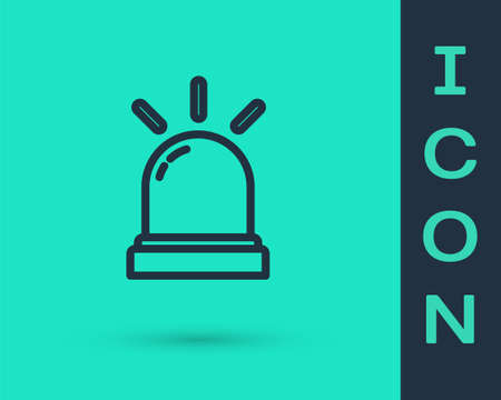Black line Motion sensor icon isolated on green background. Vector Ilustrace