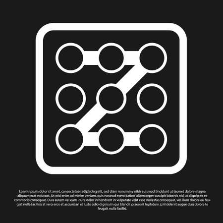 Black Graphic password protection and safety access icon isolated on black background. Security, safety, protection, privacy concept. Vector