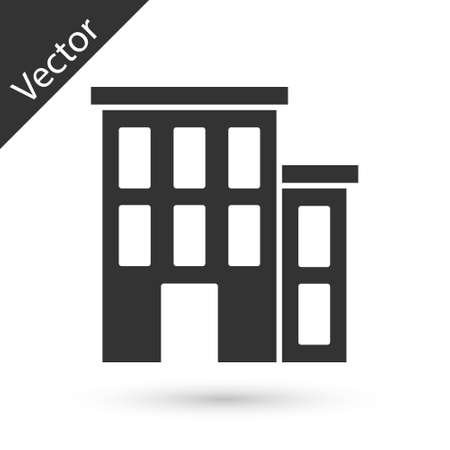 Grey House icon isolated on white background. Home symbol. Vector
