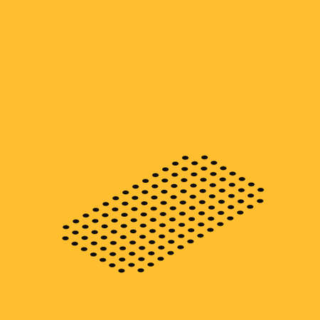 Isometric House with shield icon isolated on yellow background. Insurance concept. Security, safety, protection, protect concept. Vector.