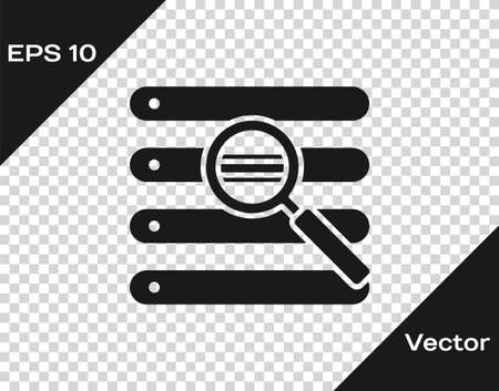 Black Search in a browser window icon isolated on transparent background. Vector Illustration