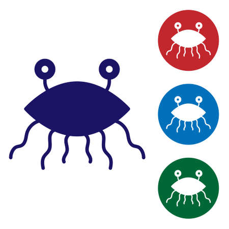 Blue Pastafarianism icon isolated on white background. Set icons in color square buttons. Vector Illustration Ilustracja