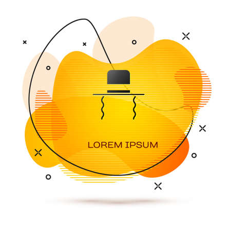Black Orthodox jewish hat with sidelocks icon isolated on white background. Jewish men in the traditional clothing. Judaism symbols. Abstract banner with liquid shapes. Vector Illustration Illusztráció