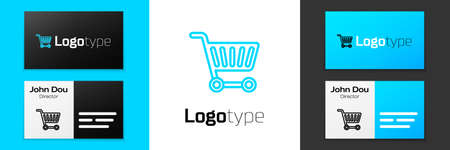 Grey line Shopping cart icon isolated on white background. Online buying concept. Delivery service sign. Supermarket basket symbol. Vector Illustration