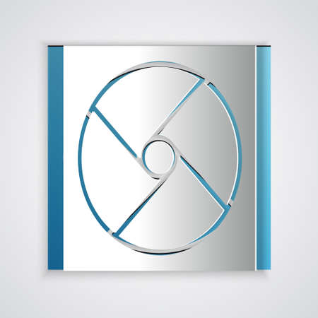 Paper cut Ventilation icon isolated on gray background. Paper art style. Vector Illustration. Vettoriali