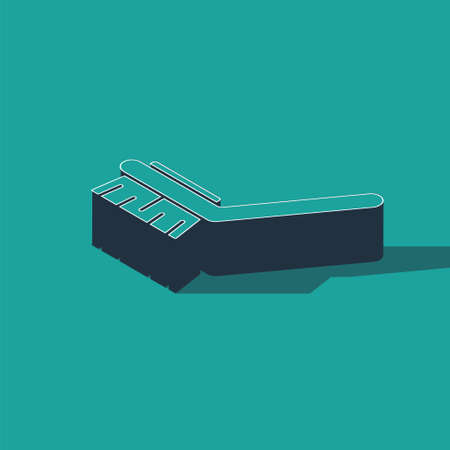 Isometric Brush for cleaning icon isolated on green background. Cleaning service concept. Vector Illustration
