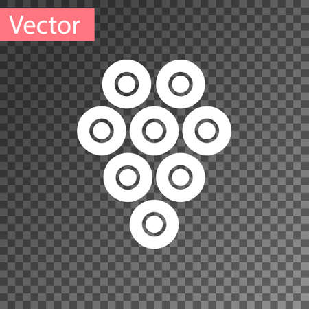 White Caviar icon isolated on transparent background. Vector.