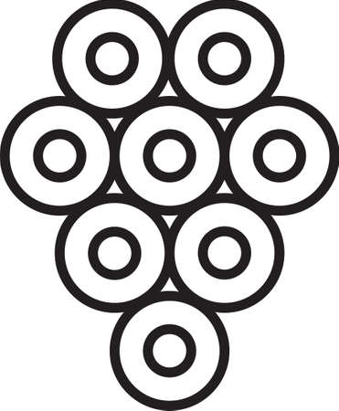Black line Caviar icon isolated on white background. Vector. Illusztráció