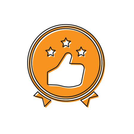 Orange Consumer or customer product rating icon isolated on white background. Vector Illustration Illusztráció