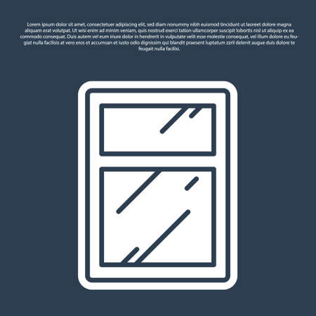 Blue line Cleaning service for windows icon isolated on blue background. Squeegee, scraper, wiper. Vector Illustration Vectores