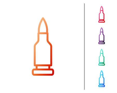 Red line Bullet icon isolated on white background. Set color icons. Vector