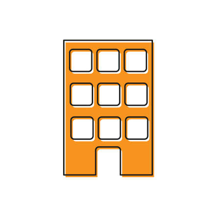 Orange House icon isolated on white background. Home symbol. Vector