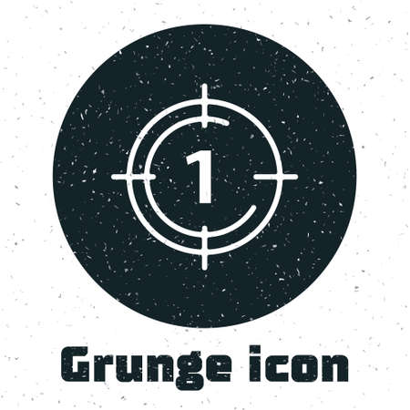 Grunge Old film movie countdown frame icon isolated on white background. Vintage retro cinema timer count. Monochrome vintage drawing. Vector