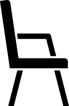 Black Armchair icon isolated on white background. Vector 向量圖像