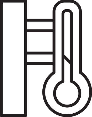 Grey Meteorology thermometer measuring icon isolated seamless pattern on black background. Thermometer equipment showing hot or cold weather. Vector