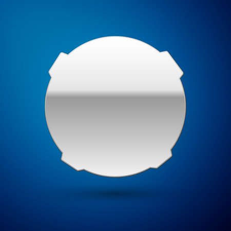 Silver Moon icon isolated on blue background. Vector Illustration 向量圖像