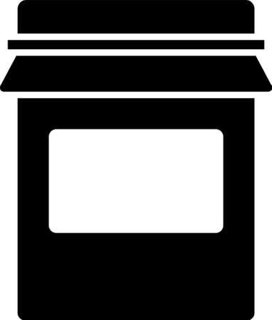 Black Jam jar icon isolated on white background. Vector 向量圖像
