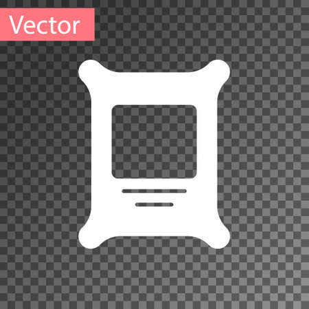 White Fertilizer bag icon isolated on transparent background. Vector