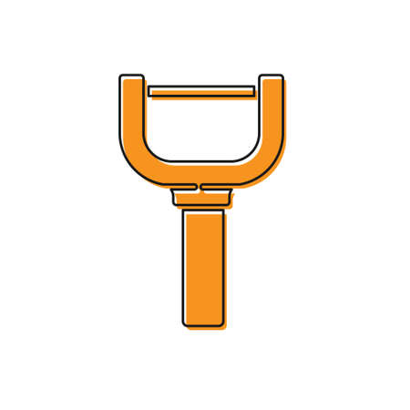 Orange Peeler icon isolated on white background. Knife for cleaning of vegetables. Kitchen item, appliance. Vector 向量圖像