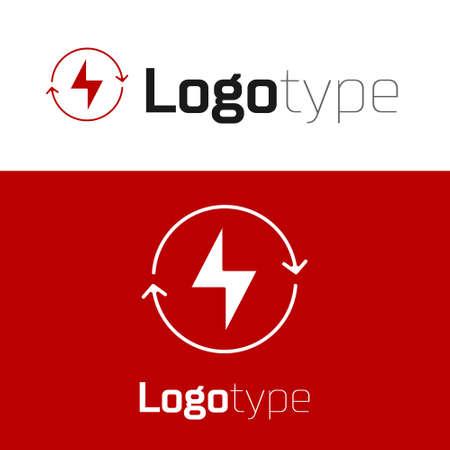 Red Lightning bolt icon isolated on white background. Flash sign. Charge flash icon. Thunder bolt. Lighting strike. design template element. Vector Illustration