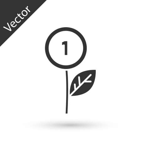 Grey Dollar plant icon isolated on white background. Business investment growth concept. Money savings and investment. Vector