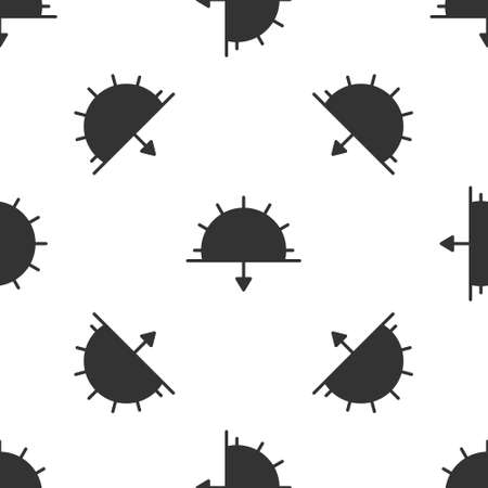 Grey Sunset icon isolated seamless pattern on white background. Vector Illustration 向量圖像