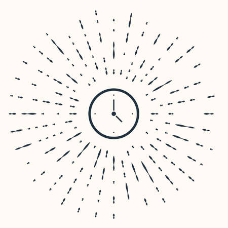 Grey Clock icon isolated on beige background. Time symbol. Abstract circle random dots. Vector Çizim