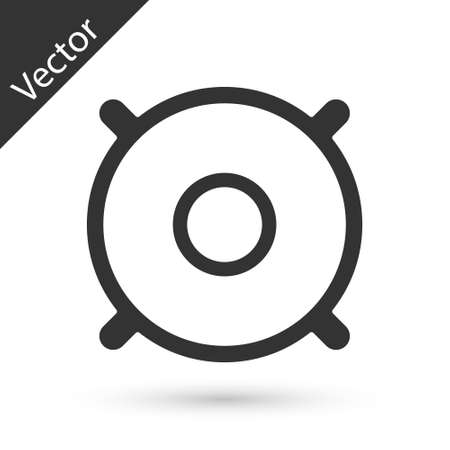 Grey Car audio speaker icon isolated on white background. Vector