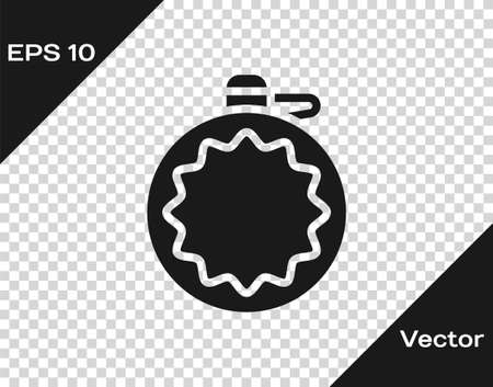 Black Canteen water bottle icon isolated on transparent background. Tourist flask icon. Jar of water use in the campaign. Vector