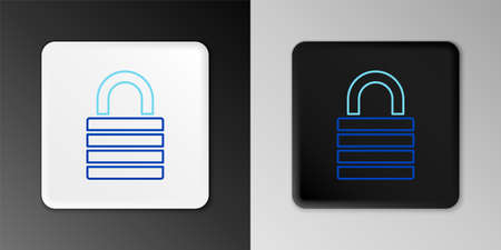 Line Lock icon isolated on grey background. Padlock sign. Security, safety, protection, privacy concept. Colorful outline concept. Vector Çizim