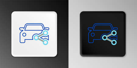 Line Car sharing icon isolated on grey background. Car sharing sign. Transport renting service concept. Colorful outline concept. Vector 일러스트