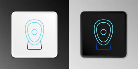 Line Boxing training paws icon isolated on grey background. Colorful outline concept. Vector