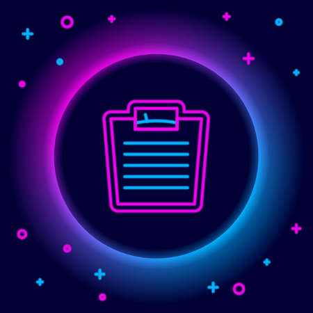 Glowing neon line Bathroom scales icon isolated on black background. Weight measure Equipment. Weight Scale fitness sport concept. Colorful outline concept. Vector