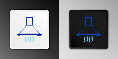 Line Kitchen extractor fan icon isolated on grey background. Cooker hood. Kitchen exhaust. Household appliance. Colorful outline concept. Vector