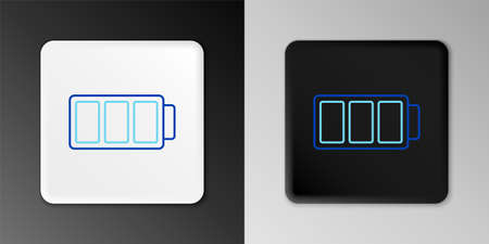 Line Battery charge level indicator icon isolated on grey background. Colorful outline concept. Vector Ilustração