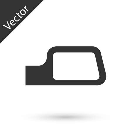 Grey Car mirror icon isolated on white background. Vector